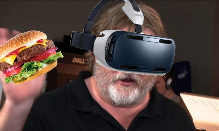 Gabe finally finishes delicious burgers, announces new Half Life