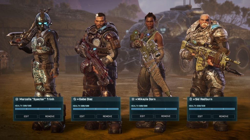 Gears Tactics squad selection beginner's guide
